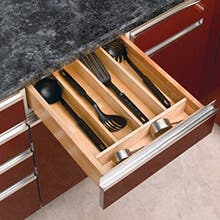 Cut-To-Size Wood Utility Tray Insert