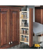 "Wall Filler Pull-Out with Adjustable Shelves - Fits Best in Behind 3"" Filler 36"" Tall"