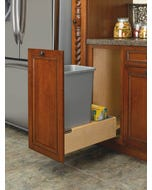 1- 50 Qt. Wood Bottom Mount Waste Container Kit w/Rev-A-Motion Slides - Fits Best in B18FHD