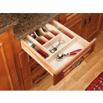 Cut-To-Size Wood Cutlery Tray Insert - Fits Best in B15, DB15-3 B18, or DB18-3