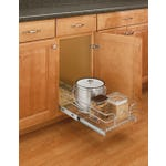 Single Pull-Out Basket in Chrome Wire - Fits Best in B18