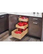 Triple Soft Closing Slide Out Drawers with dividers - Fits Best in B18FHD