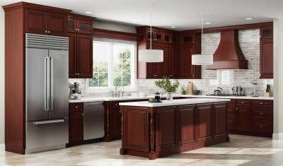 Gorgeous Kitchen Design Ideas For Cherry Cabinets