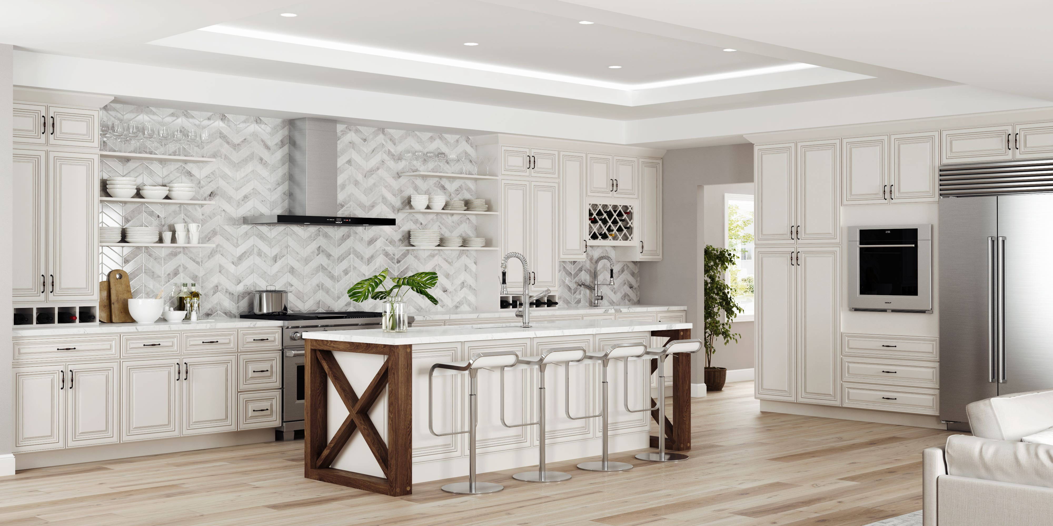 3 Antique White Kitchen Cabinets For A Timeless Kitchen