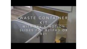 Installing Waste Container Kit for 21 Inch Base Cabinet