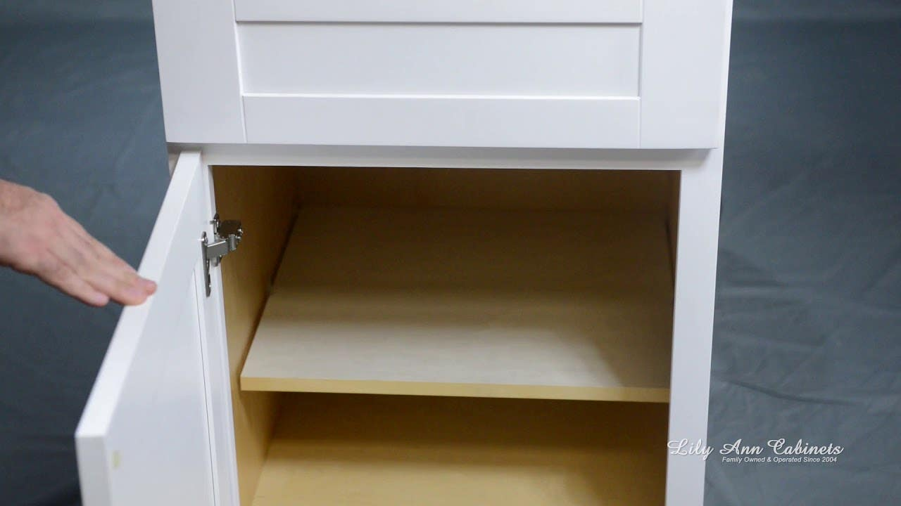 Lily Ann Cabinets Shaker White Cabinet Features