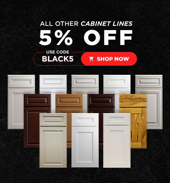 All other Cabinet Lines 5% Off